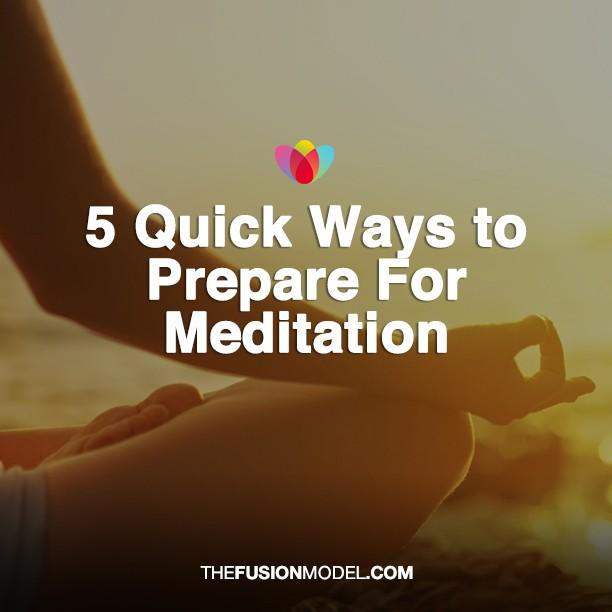 prepare for meditation
