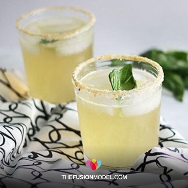 Lemon Basil Ginger Margarita